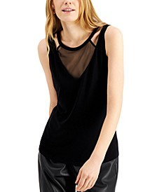 INC Illusion Cutout Tank Top, Created for Macy's