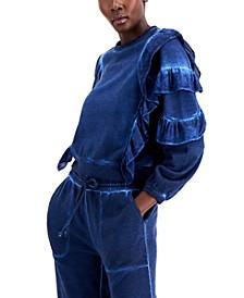 INC Cotton Ruffled Sweatshirt, Created for Macy's