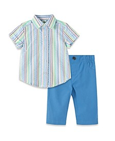 Baby Boys Multi Stripe Pant Set