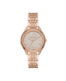 Women's Mindy Three-Hand Rose Gold-Tone Stainless Steel Bracelet Watch 36mm