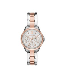 Women's Mini Bradshaw Multifunction Two-Tone Stainless Steel Bracelet Watch 34mm