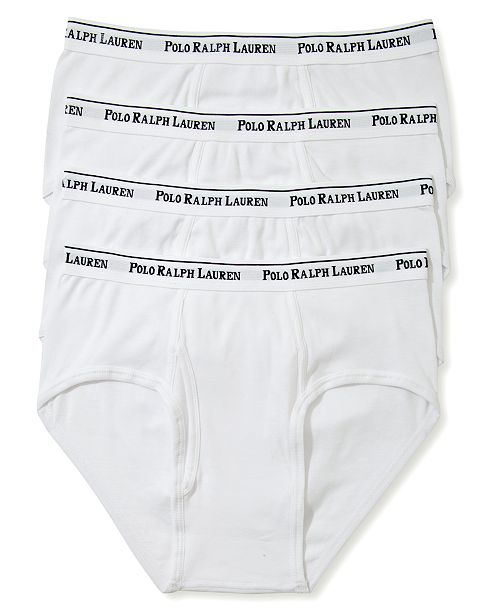 Men's Polo Ralph Brief 4 Low UnderwearClassic Cotton Rise Lauren cL3Aq5RSj4