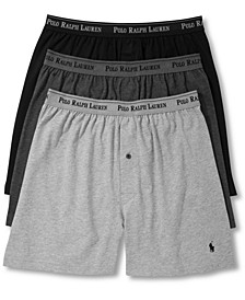 Men's 3-Pk. Cotton Classic Knit Boxers