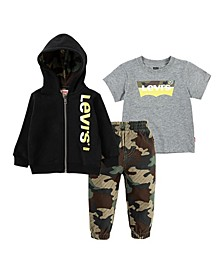 Toddler Boys 3 Piece Hoodie Set