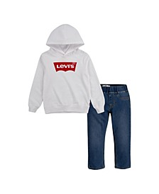 Little Boys 2 Piece T-shirt and Jeans Set