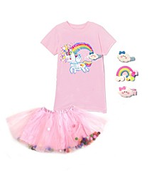 Little Girls Unicorn Top and Tutu Skirt Set