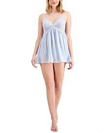 INC Chiffon Babydoll Nightgown & Thong 2pc Lingerie Set, Created for Macy's