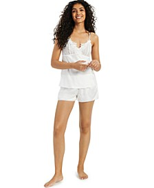 INC Bridal Satin Pajama Shorts Set, Created for Macy's