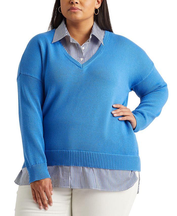 Lauren Ralph Lauren - Plus Size Layered-Look Sweater