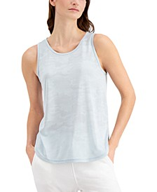Jacquard Camo Tank Top, Created for Macy's
