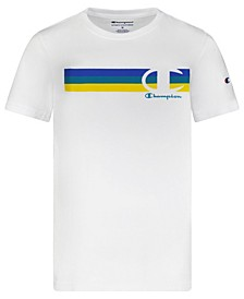 Big Boys Multi Stripe C Script T-shirt