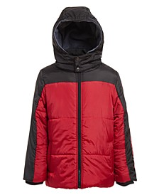 Little Boys Blocked Logo Puffer Jacket