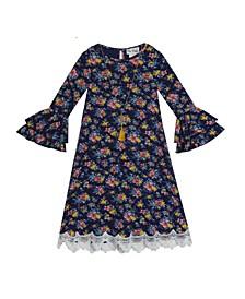 Toddler Girls Printed Rib Knit Dress