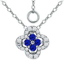 """Cubic Zirconia Colorful Clover 18"""" Pendant Necklace, Created for Macy's"""