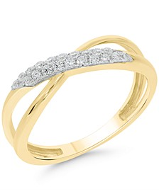 Diamond Crossover Openwork Ring (1/5 ct. t.w.) in 10K Gold, 10K White Gold or 10K Rose Gold