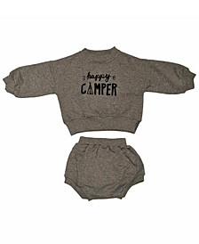 Baby Boys and Girls Organic Cotton 2 Piece Happy Camper Long Sleeve Sweater Set