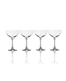 Berlin Champagne Saucer Glass Set of 4, 11.5 oz