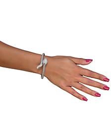 Diamond Snake Bracelet in Sterling Silver (1/4 ct. t.w.)