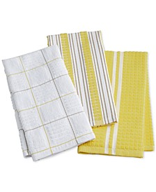 Yellow Kitchen Towels, Set of 3, Created for Macy's