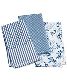 Cotton Kitchen Towels, Set of 3, Created for Macy's