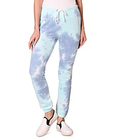 Juniors' Tie-Dyed Pull-On Sweatpants