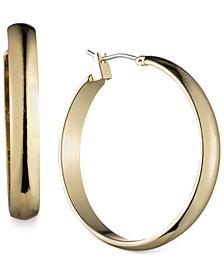 """Gold-Tone 1 1/4""""Wide Hoop Earrings"""