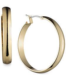 Anne Klein Gold-Tone Wide Hoop Earrings