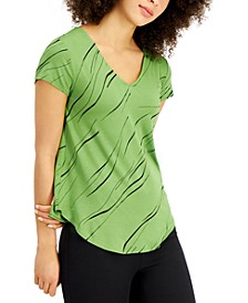 V-Neck Printed Top, Created for Macy's