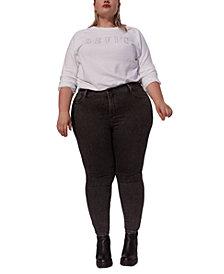 Levi's® Trendy Plus Size Glitter-Logo Sweatshirt, Created for Macy's