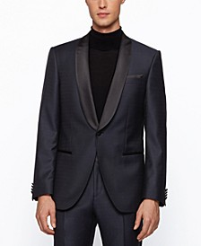 BOSS Men's Henry3/Glow2 Slim-Fit Virgin-Wool Tuxedo Suit
