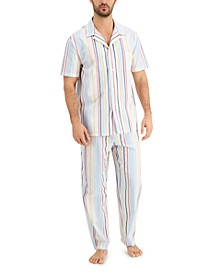 Men's Striped Pajamas, Created for Macy's