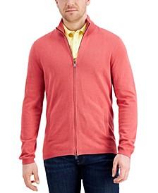 Men's Two-Way Zip Cardigan, Created for Macy's