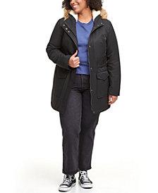 Levi's® Trendy Plus Size Faux-Fur-Trim Parka