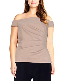 Plus Size Off-The-Shoulder Top