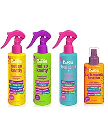 4-Pc. Pineapple Banana and Green Apple Conditioning Detangler, Coconut Oil Leave-In Conditioner, Curl Boost Set