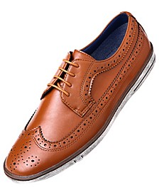 Men's Casual Wingtip Oxford Dress Shoes