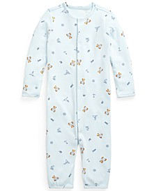 Ralph Lauren Baby Boys Polo Bear Cotton Coverall