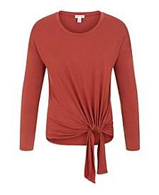 Women's Adjustable Knot Long Sleeve Top