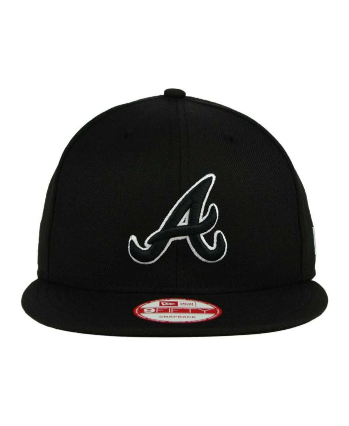 New Era Atlanta Braves Black White 9FIFTY Snapback Cap & Reviews - MLB - Sports Fan Shop - Macy's