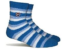 Women's Oklahoma City Thunder Fuzzy Steps Socks