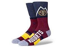 Men's Denver Nuggets Shortcut 2 Crew Socks