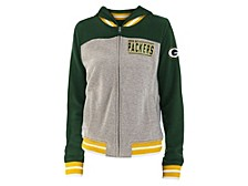5th and Ocean Women's Green Bay Packers Team Vintage Zip Up Jacket