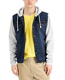 Men's Rose Mix-Media Hooded Trucker Jacket, Created for Macy's