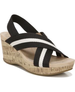 Lifestride LIFESTRIDE DREAM BIG STRAPPY WEDGE SANDALS WOMEN'S SHOES