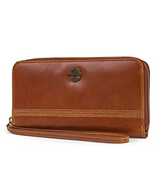 Zip Around Wallet with Wristlet Strap