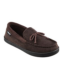 Men's Mini Box Cord Moccasin with Lacing Slippers