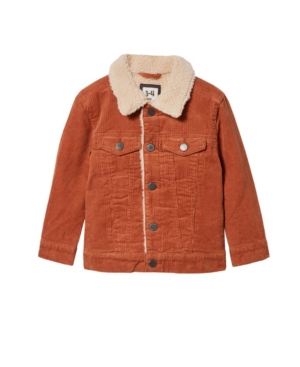 Cotton On TODDLER BOYS JAMIE CORD SHERPA JACKET