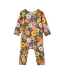 Baby Girls The Long Sleeve Snap Romper