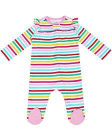 Organic Baby Girl 1-Piece Aurora Coverall