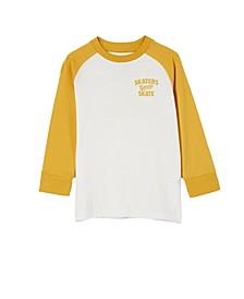Toddler Boys Tom Long Sleeve Raglan T-shirt
